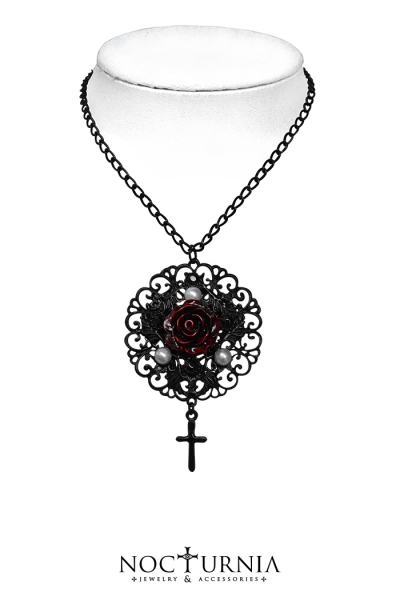 Rose & Cross Necklace