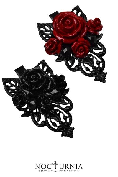 Rose Hairclips